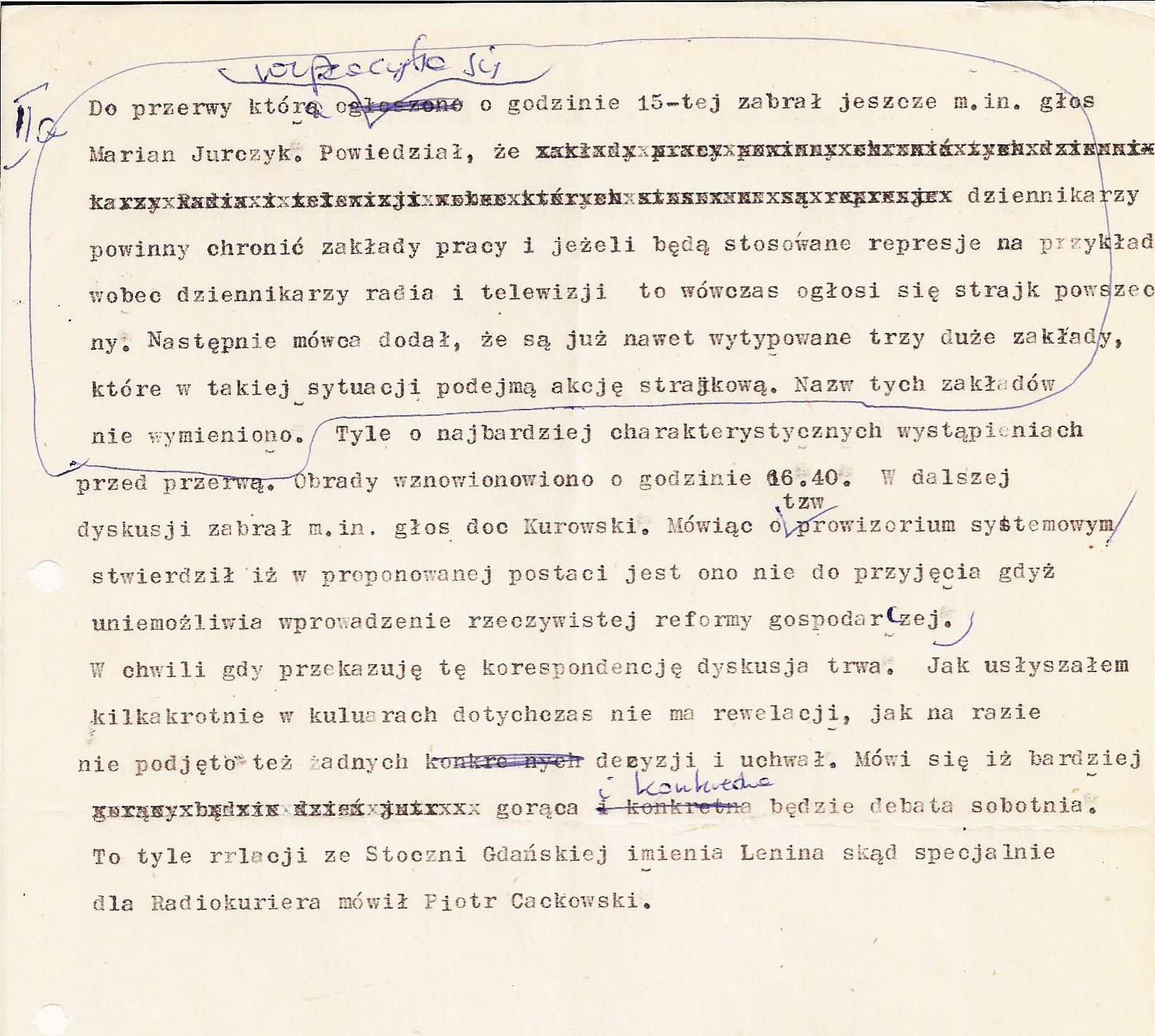 Radiokurier 12.12.1981 r. 2