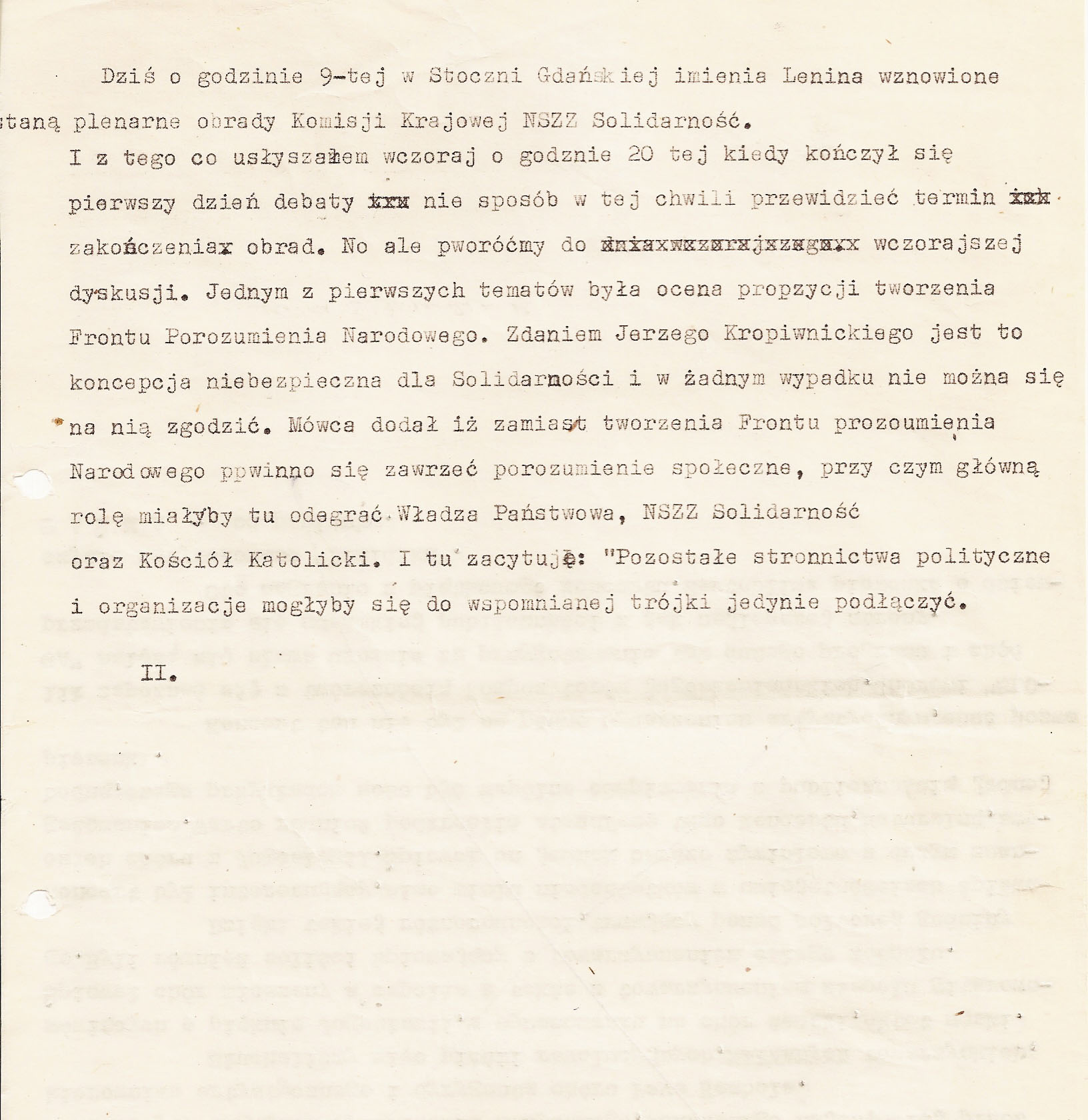 Wiadomości radiowe 13 grudnia stan wojenny 2